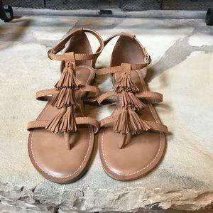 NWOT Old Navy Tassel Fringe Sandals Size 8